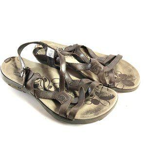 MERRELL BRACKEN J62310 Brown Leather Sandals ~ 11